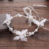 South Korea Handmade Silk Yarn Butterfly Flower Beaded Headdress With Wedding Wedding Accessories Manufacturers