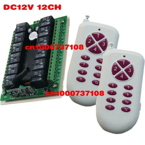 Hot remote control switch 12v rf garage door remote control livolo learning code light relays momentary rf switches hot sales rf wireless remote switch control 12v 1channels 4 relays 1 receiver