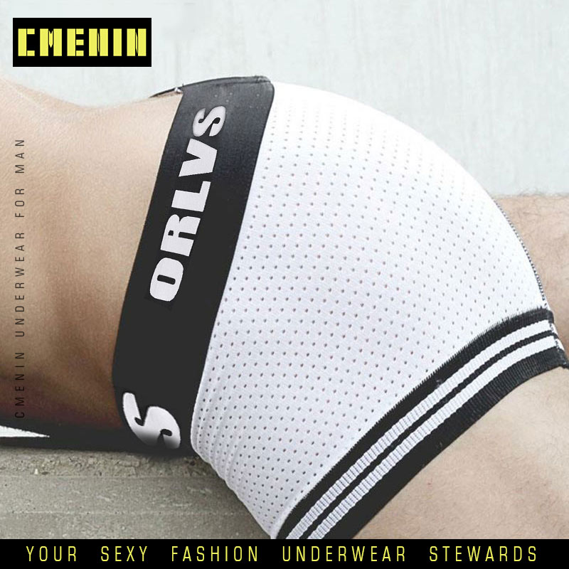 Sexy Underwear Boxer Men Mesh Shorts Plus Size Men's Clothing Comfortable Boxers Panties Boxershorts Fat Guy Mens Boxer OR599