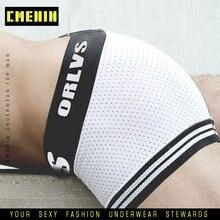 Mesh Shorts Sexy Underwear Plus-Size Panties Clothing Boxers Comfortable Men's Fat-Guy