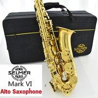 Free Copy Selmer Mark VI Alto Saxophone Near Mint 97 Original Lacquer Gold Sax Alto Eb