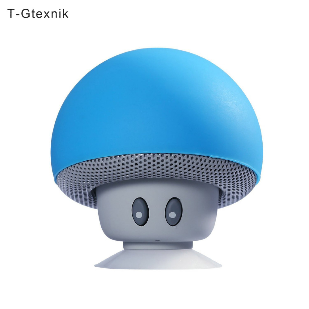 Wireless Bluetooth Speaker Mini Mushroom Speaker With Micro 3W Suction Waterproof Stereo Bluetooth Speaker For Iphone