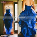 Organza Elegant  Long Puffy Prom Dress Long Ball Gown Evening Gown StraplessTired Prom Dress vestido de fiesta SL-P363
