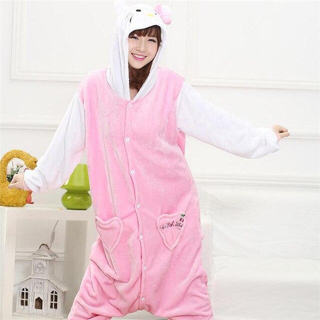 Wholesale Animal Kigurumi Star Rainbow Unicorn New Winter Flannel onesie Adult Unisex Women Hooded Sleepwear pajamas Xmas