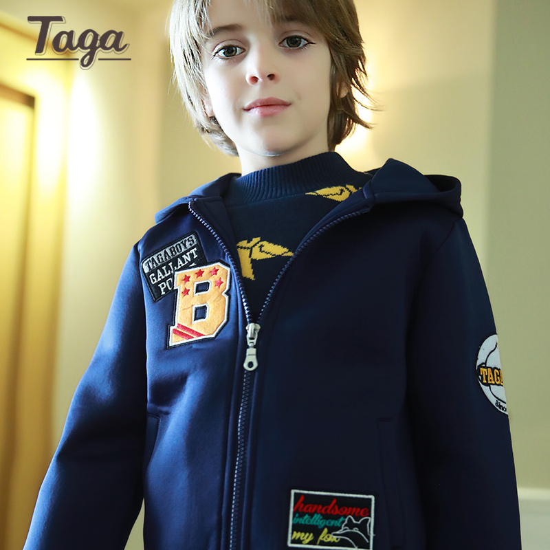 TAGA 2016 Boys jackets Spring Autumn Hooded Solid Baby Boys Outerwear Coats Children Jackets For kids 3-14Y Windbreaker Clothes стоимость