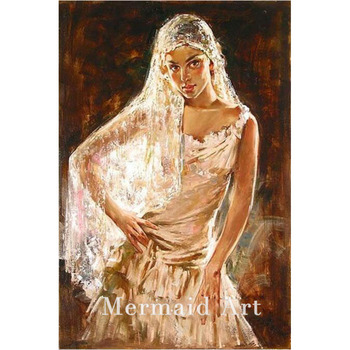 Hand Painted Dance painting Modern classic Spanish Dance Girl Pure Handmade Canvas Oil Painting