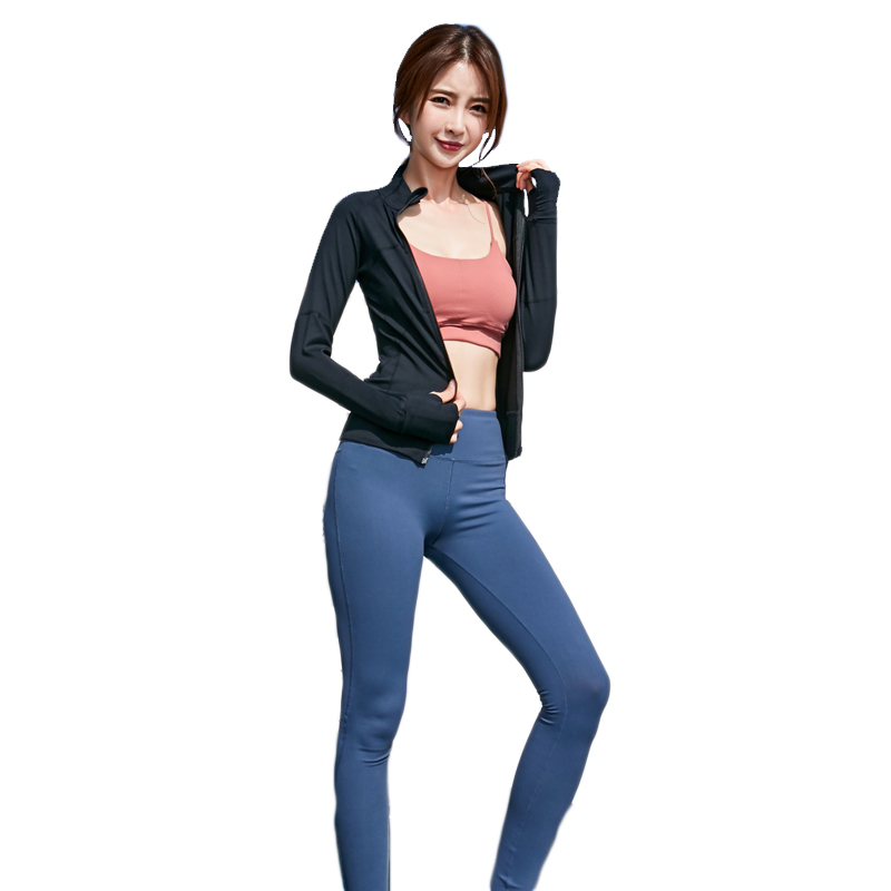 Women Sets Breathability  Quick Dry Comfort Elasticity 5 pieces/ set Outdoor Running Fitness Sports Set 8055s