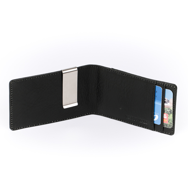 Mt European And American Genuine Leather L Short Magic Money Clips For Man Italian Business