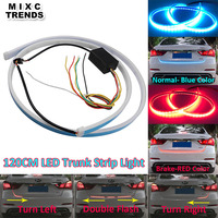 120cm Car Styling LED Strip Lighting Rear Trunk Tail Light RED Dynamic Streamer Brake Turn Signal