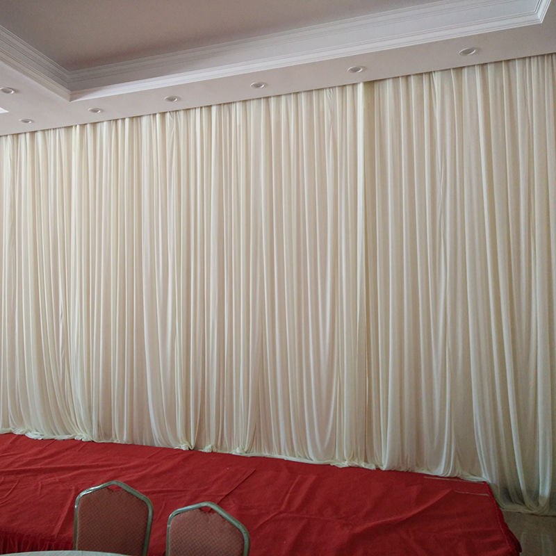 3m 6m plain sheer white wedding drape wedding stage for Background curtain decoration