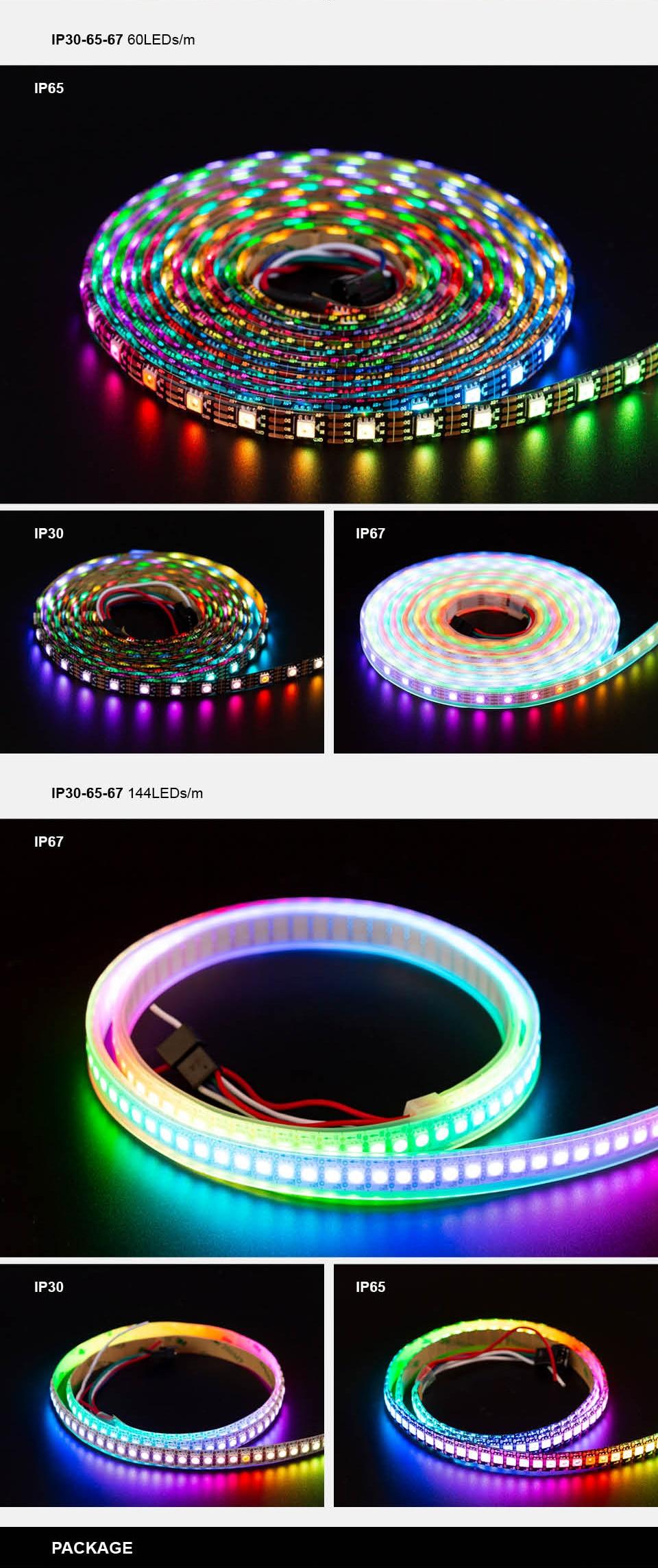 HTB1LN 7adfvK1RjSszhq6AcGFXad WS2815 DC12V (WS2812B/WS2813) RGB LED Pixels Strip Light Individually Addressable LED Dual-Signal 1m/5m 30/60/144 Pixels/Leds/m