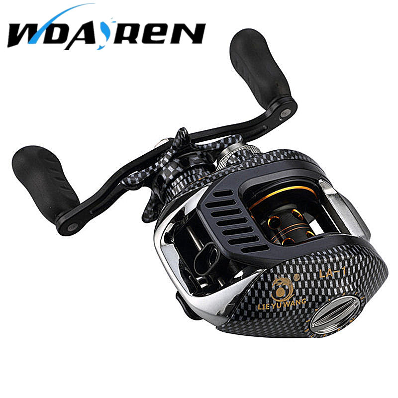 New 12 + 1BB Ball Bearings 6.3: 1 Left / Right Hand Bait Casting Carp Fishing Reel High Speed Baitcasting Reel Pesca FA-002 12 1bb left right hand bait casting fishing reel 6 3 1 baitcasting reel magnetic brake system fish wheel pesca lyw 013