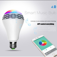 Genuine Tonbux Smart Wireless Bluetooth Speaker LED RGB Light Bulb Music Player APP Remote Control