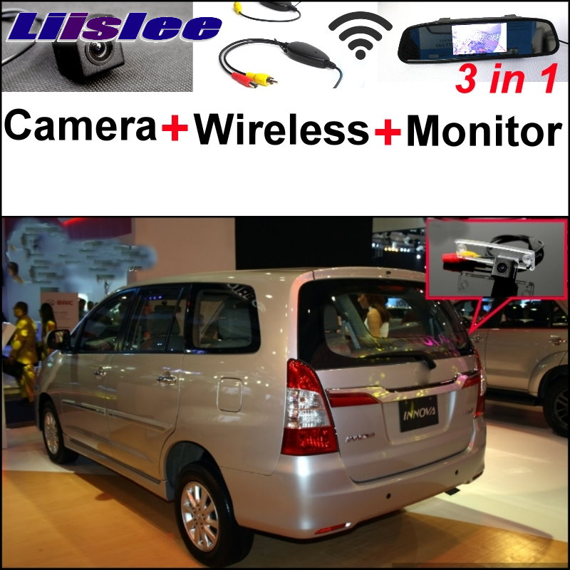 Liislee 3 in1 Special Rear View Wifi Camera + Wireless Receiver + Mirror Monitor Easy Parking System For TOYOTA Innova 2013~2015 liislee for renault samsung qm5 3 in1 special rear view camera wireless receiver mirror monitor easy back parking system