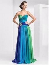 Auf lager Bunten Günstige Abendkleider Liebsten Ärmellose Formale Abendkleider mit Falten Kristall robe de soiree