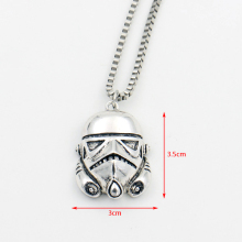 Star Wars Stormtrooper MarvelComics Men Necklace,the Stainless Steel White Soldier Helmet Super Hero Long Necklace Movie Jewelry