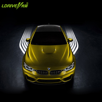 Auto Side Wing Laser Led Projector Logo Light Front Car Chassis Mount Welcome Decorative Lamp Kit For BMW Audi Kia Universal