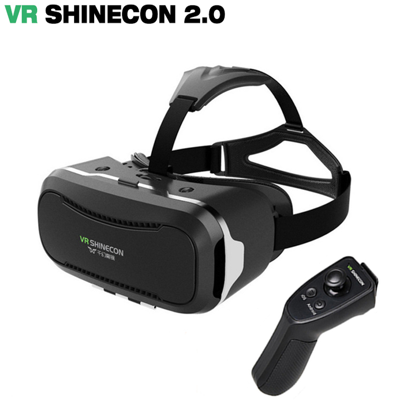 Original VR shinecone 2.0 Virtual Reality goggles 3D Glasses google Cardboard VR BOX 2.0 VR headset For 4.0-6.0 inch smartphone
