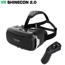 Оригинальный VR shinecone 2.0 Виртуальной Реальности очки 3D Очки google Картон VR 2.0 VR гарнитура Для 4.0-6.0 дюймов смартфон
