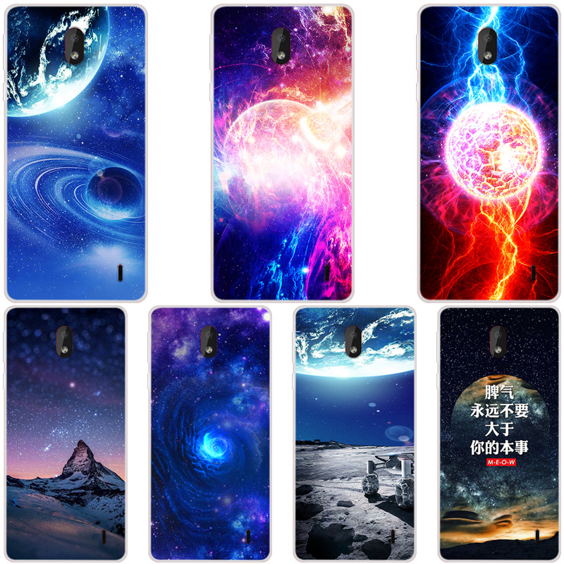For <font><b>Nokia</b></font> 1 Plus Phone Case Carton Starry Sky Moon Painted Soft Full Cover For <font><b>Nokia</b></font> 1 Plus 2019 <font><b>TA</b></font>-<font><b>1130</b></font> <font><b>TA</b></font>-1111 <font><b>TA</b></font>-1123 Cases image