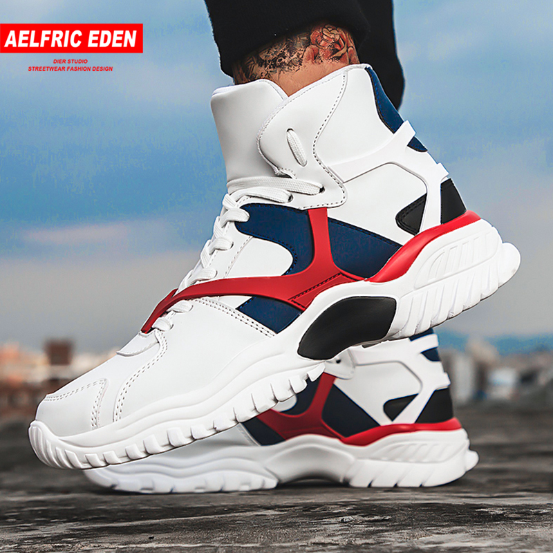 Aelfric Eden Men Casual Shoes Fashion Footwear 2018 New Arrival Hip Hop Flat High Top Sneakers