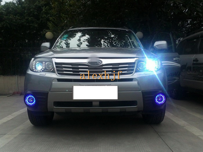 July King LED Daytime Running Lights, White DRL + Blue DRL case for Subaru forester 2009~13, 1:1, replacement, fast shipping yeats led daytime running lights drl led fog lamp case for subaru forester 2013 16 deluxe edition 1 1 replacement fast shipping