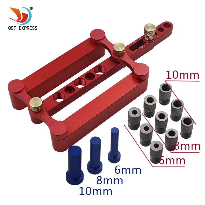 6mm 8mm 10mm Self Centering Dowelling Jig Set Metric Dowel Drilling Hand Tools Set Power Woodworking Tool