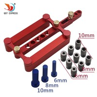 6mm 8mm 10mm Self Centering Dowelling Jig Set Metric Dowel Drilling Hand Tools Set Power Woodworking Tool