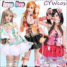 Love Live Cheongsam Пробуждение всех членов Nozomi Eli Nico Kotori Umi Honoka Maki Косплей Костюм китайское платье женские костюмы с юбкой