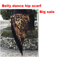 2015 High Quality Women Leopard Color Tribal Belly Dance Hip Belts Belly Dancing Scarf Tassel On