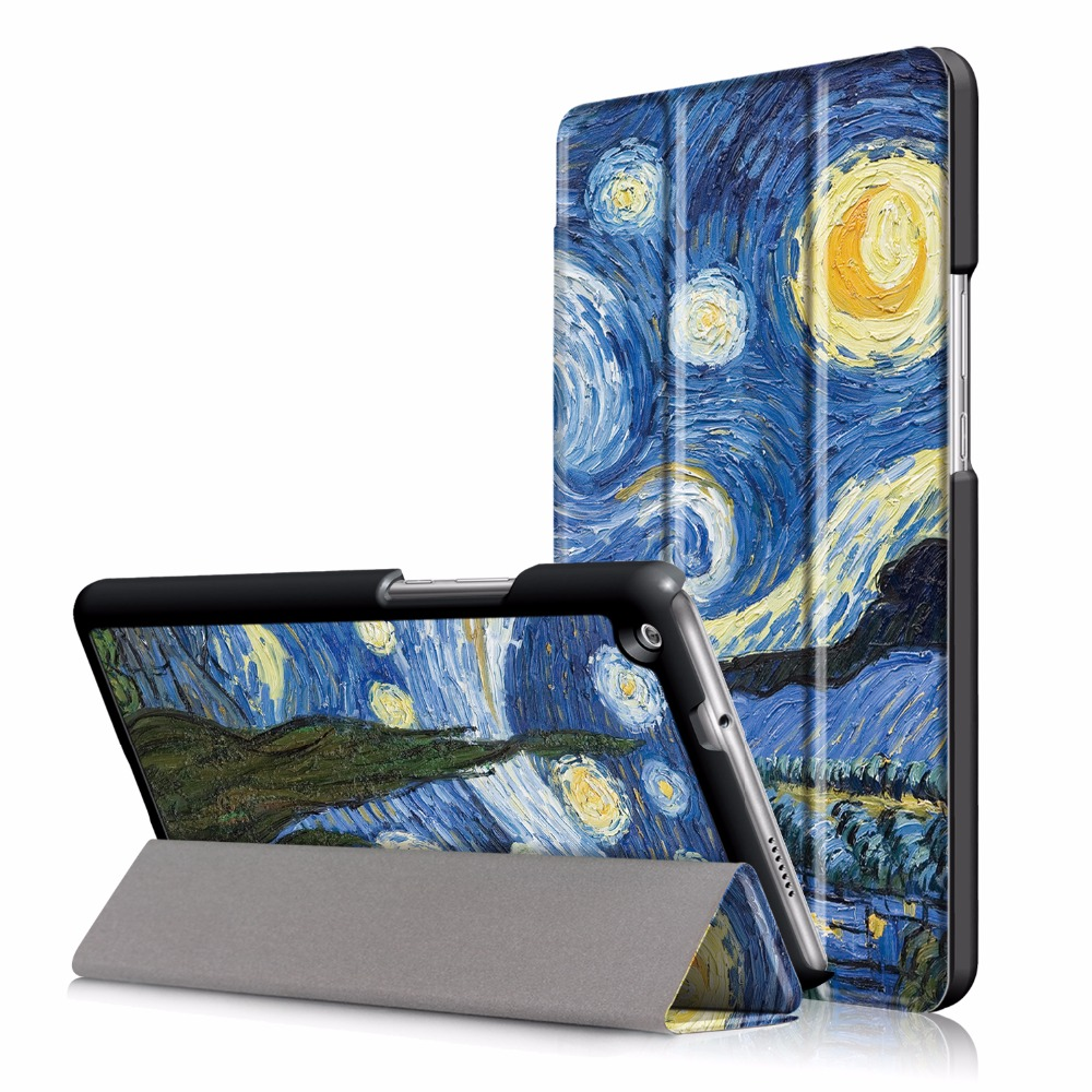 Triangle stand cover case for Huawei Mediapad M3 Youth Lite 8 CPN-W09 CPN-AL00 8 +free gifts for 2017 huawei mediapad m3 youth lite 8 cpn w09 cpn al00 8 tablet pu leather cover case free stylus free film