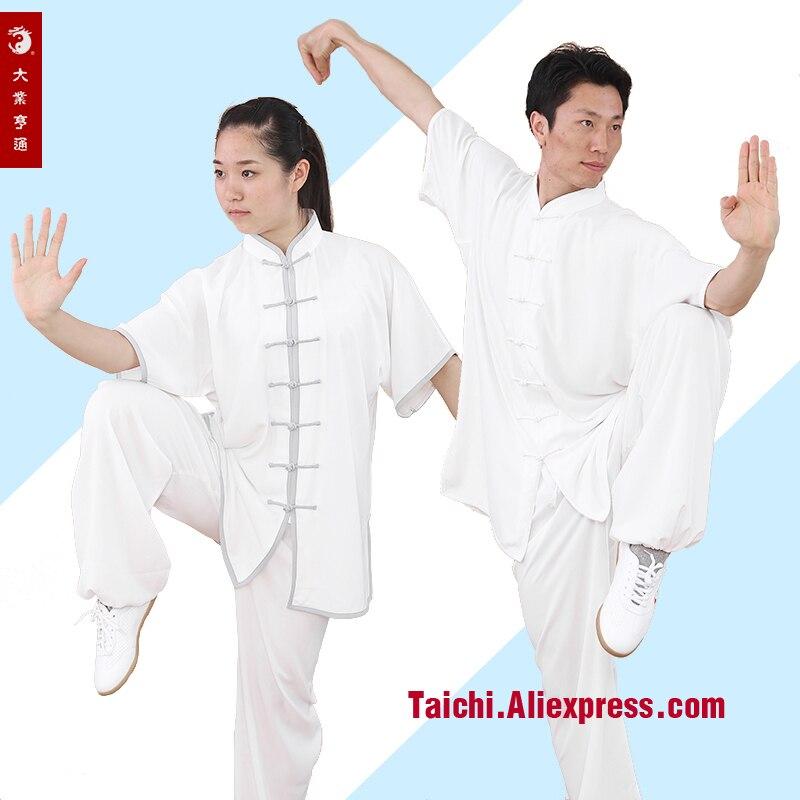 Chinois Tai Chi Kung FU à manches courtes WUSHU uniforme Kung Fu Tai Chi vêtements costume Xs à 4XL