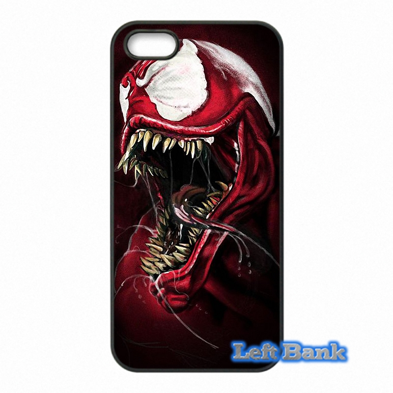new styles 68ec9 aac1c US $4.99 |Coque Spiderman Villain Marvel Venom Phone Cases Cover For Apple  iPhone 4 4S 5 5C SE 6 6S 7 Plus 4.7 5.5 iPod Touch 4 5 6-in Half-wrapped ...