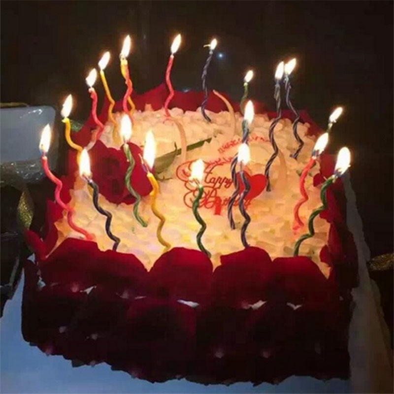 Hot Sale 8pcs Lot Birthday Candle For Cake Candele Torta Photophore