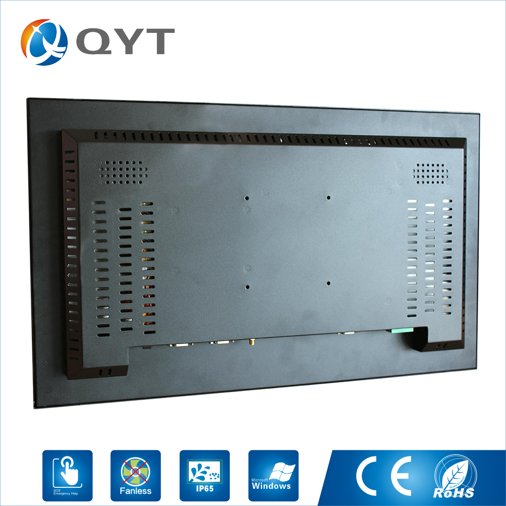 Image 4 - Embedded computer 1920X1080 4GB ddr4 32G ssd 24inch Industrial all in one pc with N3150 1.6GHz USB/WIFI/rs232/VGA-in Desktops from Computer & Office