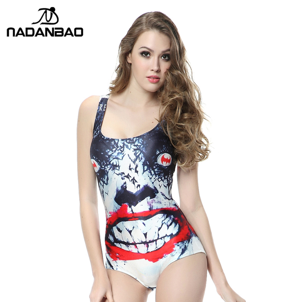 New Arrival Women Swimsuit Bathing Suit Horrible Printed Beach Wear Sexy Sleeveless One Piece Swimwear CYQ1087 women cover up swimwear beach dress skirt one piece swimsuit printed tunic bathing suit 2017 new arrival large size