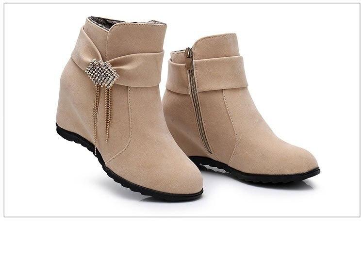 En Rojo Felpa 2018 Zapatos Las beige Invierno negro Por Beige Mujer Resbalón Calientes Nieve Al negro Botas rojo Mayor Mujeres 4x7Ywg8xq