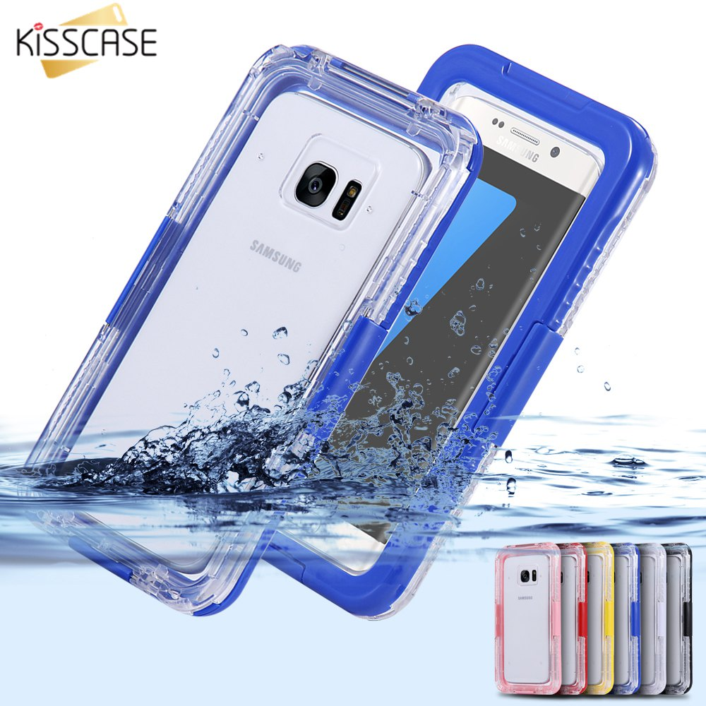 new concept a1d3d 07f8b US $13.32 |KISSCASE Waterproof Phone Case For Samsung Galaxy S8 S8 Plus S7  S7 Edge Case Swimming Dive Water Proof Phone Bag For Galaxy S6 -in Fitted  ...