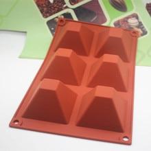 Pyramid shape chocolate pudding Jelly Mold Handmade Silicone Cake Baking Mould цена и фото