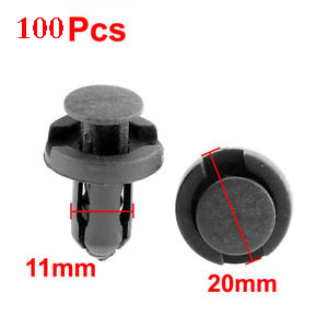 2018 New 100pcs Black Car Styling Fastener Fit 11mm Dia Hole Push Retainer Rivets For Dodge Journey Magnum Nitro Stratus Viper
