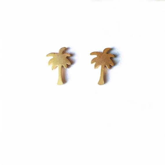 الذهب اللون سحر الخواتم الأزياء والمجوهرات 2017 الحديثة هاواي شاطئ الاستوائية شجرة النخيل شجرة الأزرار أفضل صديق هدايا brincos بيجو