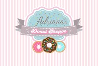 custom donut birthday candy pink and white striped backgrounds High quality Computer print party backdrops