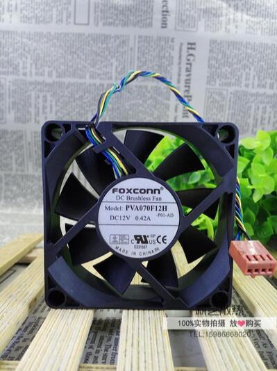 popular foxconn cpu fan buy cheap foxconn cpu fan lots from foxconn pva070f12h 12v 0 42a 7cm 70 70 20 4 wire pwm cpu fan