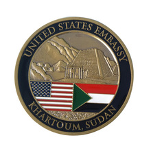 Factory wholesale military flag coin american round