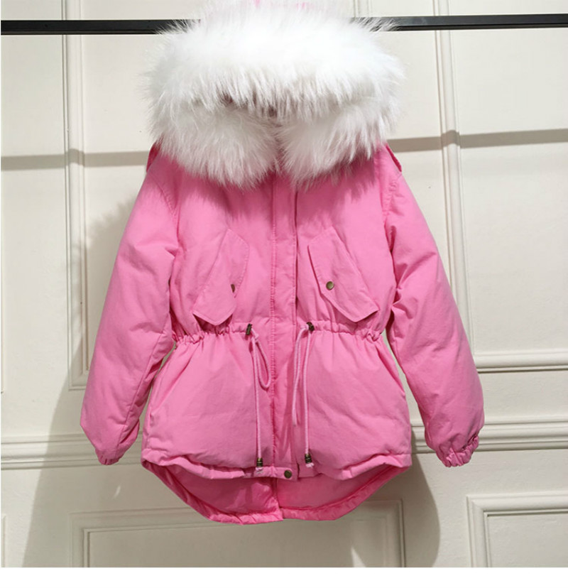 High Quality women down coat 2018 winter thicken fashion down jackets hot sale coats overcoat female down coat real raccoon fur