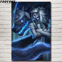 FOOCAME Kindred League Of Legends LoL Game Posters and Prints Silk Wall Decor Art Prints Home Paintings Decorative Pictures