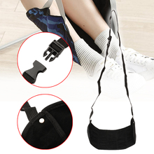 Portable Travel Hang Footrest Mat Train Airplane Office Table Casual Adjustable Feet Leg Rest Hammock Pad Accessories Black