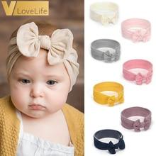 Hair-Accessories Headband Elastic Baby-Girl Turban Bowknot Nylon Newborn-Bunny