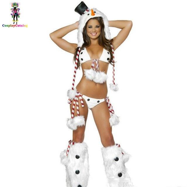 7bfadd66e الثلج الأبيض البطريق ازياء بيكيني مثير فتاة الملابس الداخلية حلي مثير  الكبار ثلج عيد الميلاد الثلج