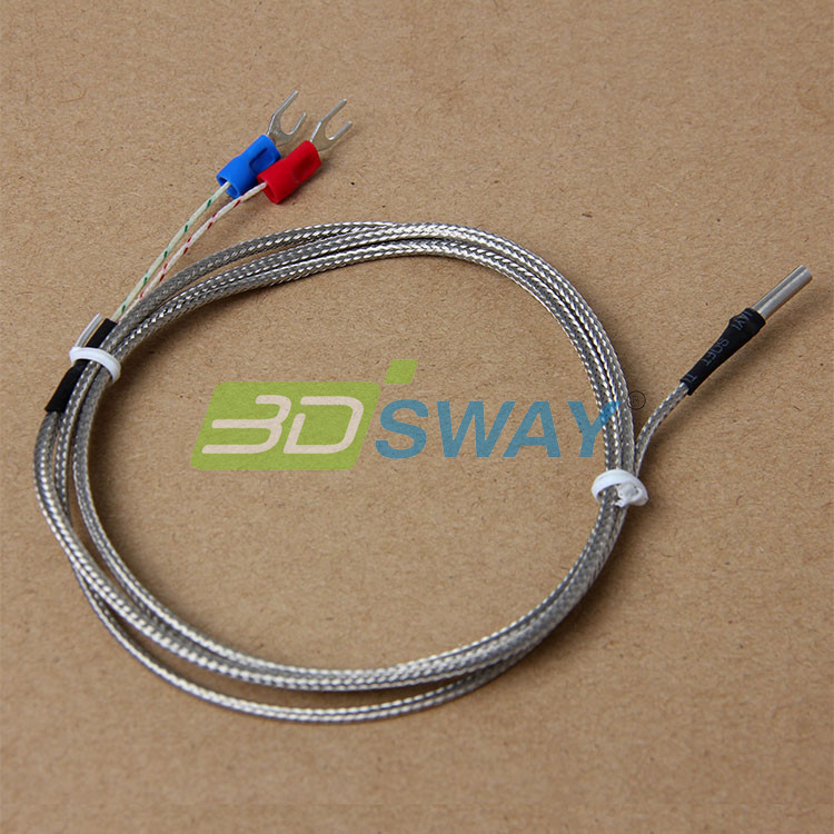 3DSWAY 3D Printer Accessories 5pcslot  K Type Thermocouple 3D Printer Fitting Temperature Sensor 3151000 (2)